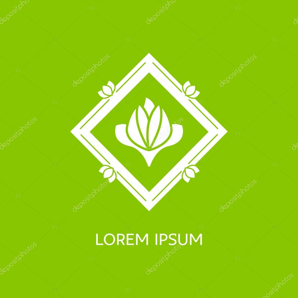 Emblems for flowers shop