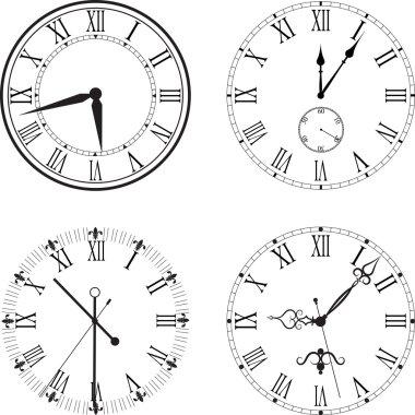 retro clock with Roman Dial