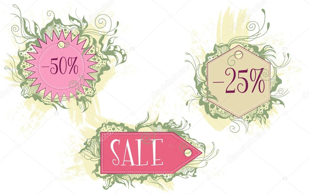 Decorative Labels Of Various Shapes Stock Vector