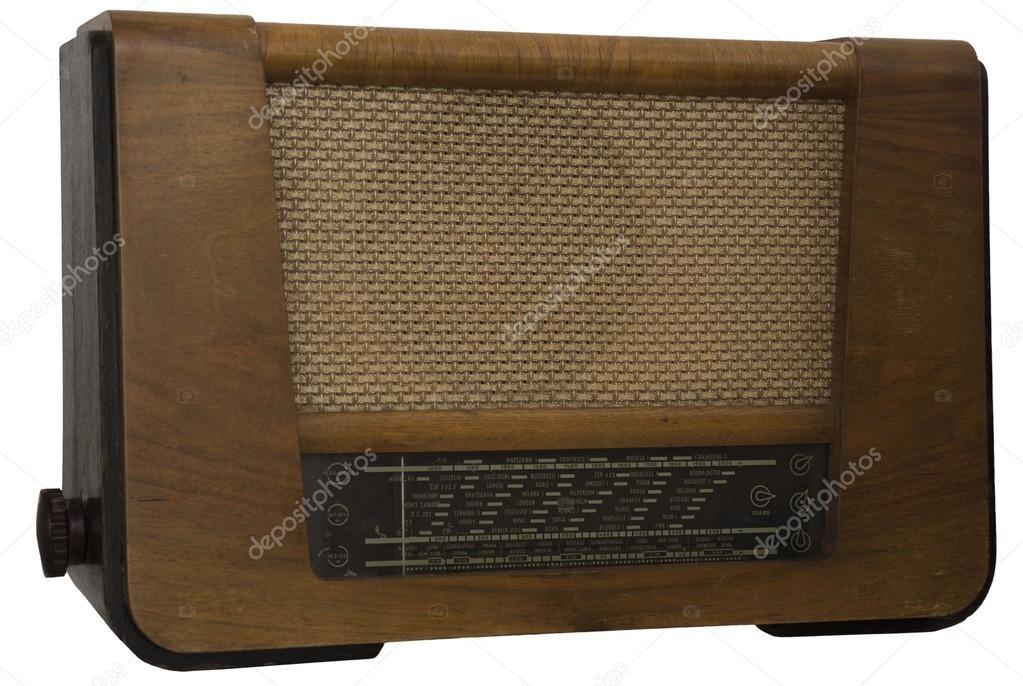 Old retro radio isolated