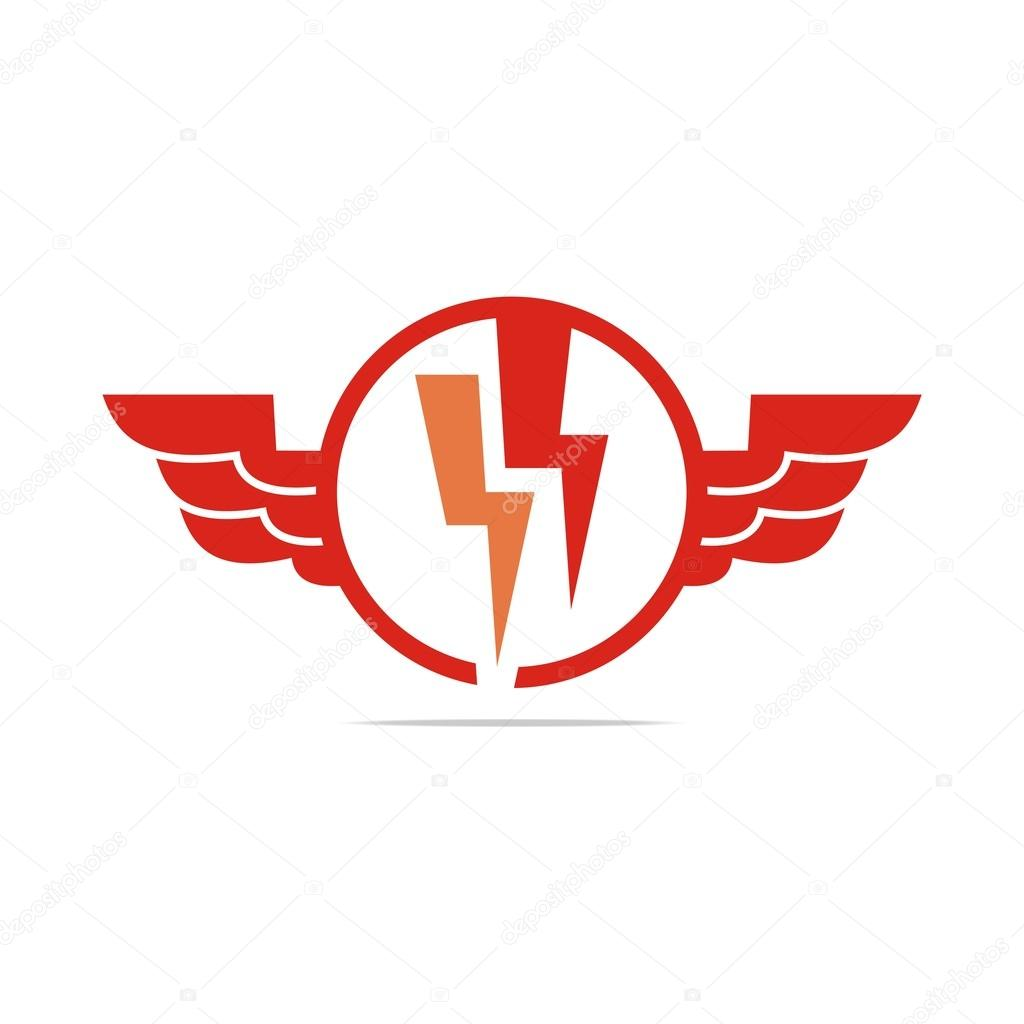 Logo electricity power wings icon design symbol abstract vector power powerful set shiny sign speed symbol thunderbolt vector zeus electric current electricity electronic element emblem energy fast buycottarizona Images