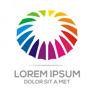 Asbtract Logo Colorful Spin Scallop Concept Design Vector
