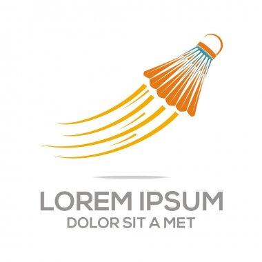 Logo abstract badminton tournament competition vector