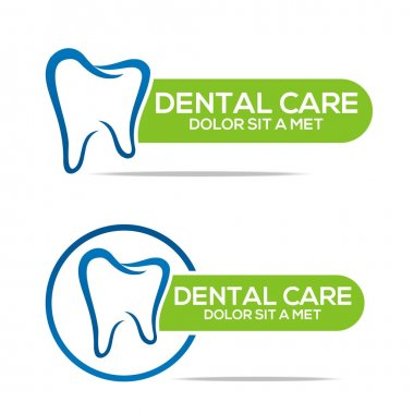 Logo Dental Healthy Care Tooth Protection Oral