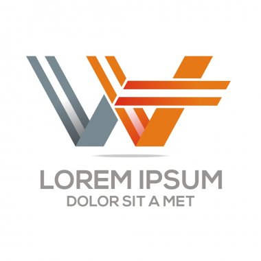 Logo Vector W Lettermark Abstract Business