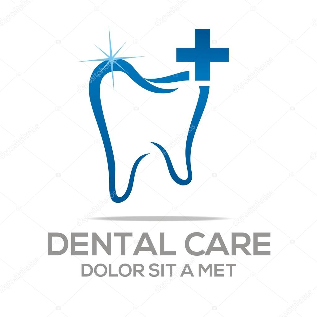Logo Dental Healthy Care Tooth Protection Oral Stock Vector C Acongraphic 78390222