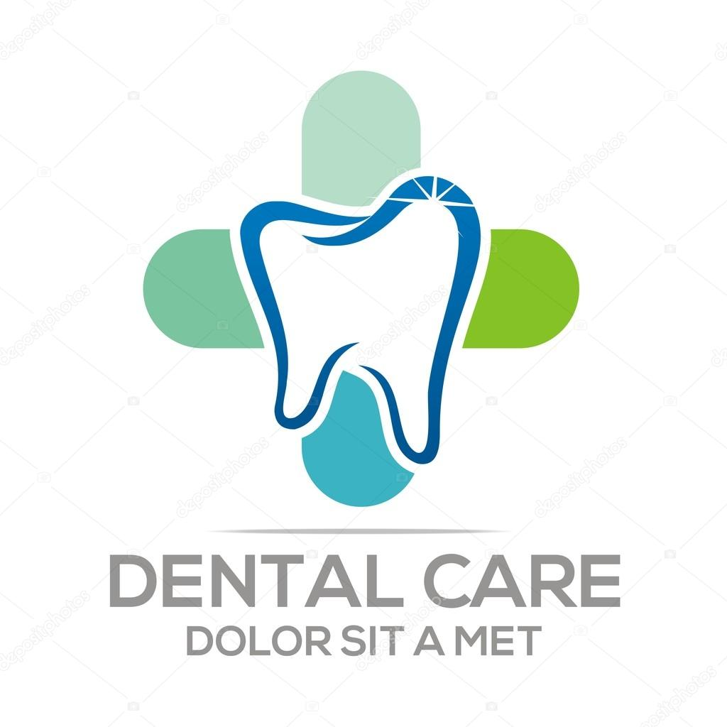 Logo Dental Healthy Care Tooth Protection Oral Stock Vector C Acongraphic 78390224