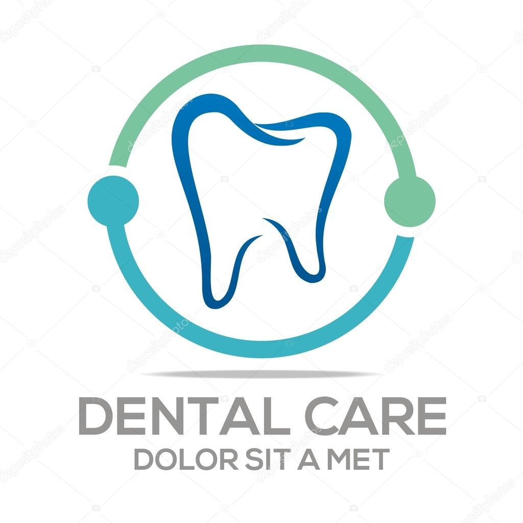 Logo Dental Healthy Care Tooth Protection Oral Stock Vector C Acongraphic 78390268