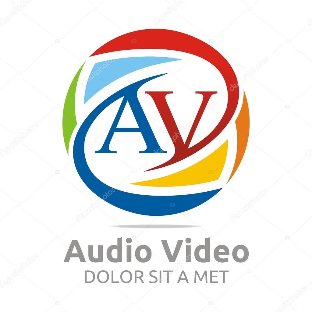 Abstract Logo AV Symbol Element Logo Template Business Vector