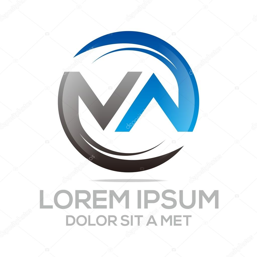 Logo Abstract Letter M Combination W Circle Vector