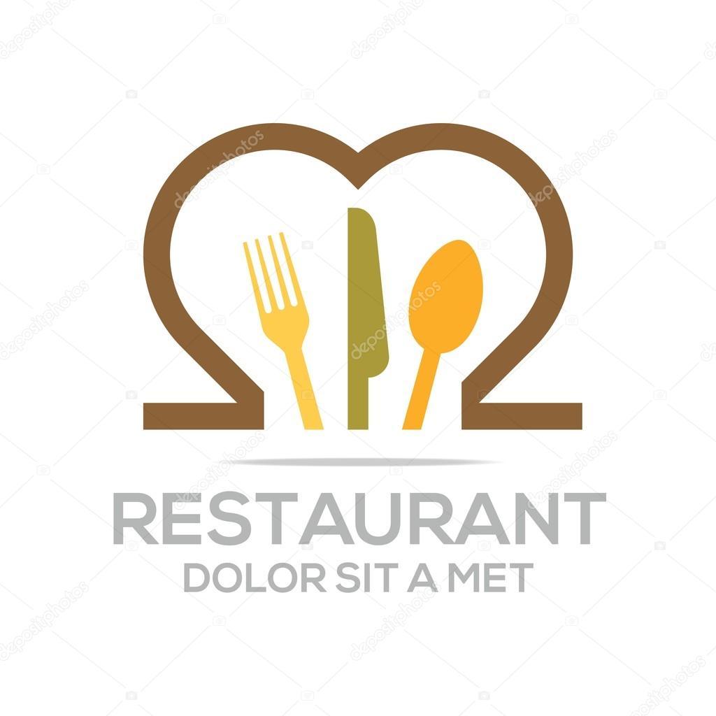 besteck love kitchen set utensils restaurant logo stock vector acongstudio 78488442. Black Bedroom Furniture Sets. Home Design Ideas