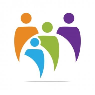 Logo Family Childrens People With Kids, Organization Social Team