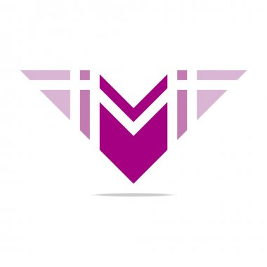 Logo letter M wings symbol design icons vector