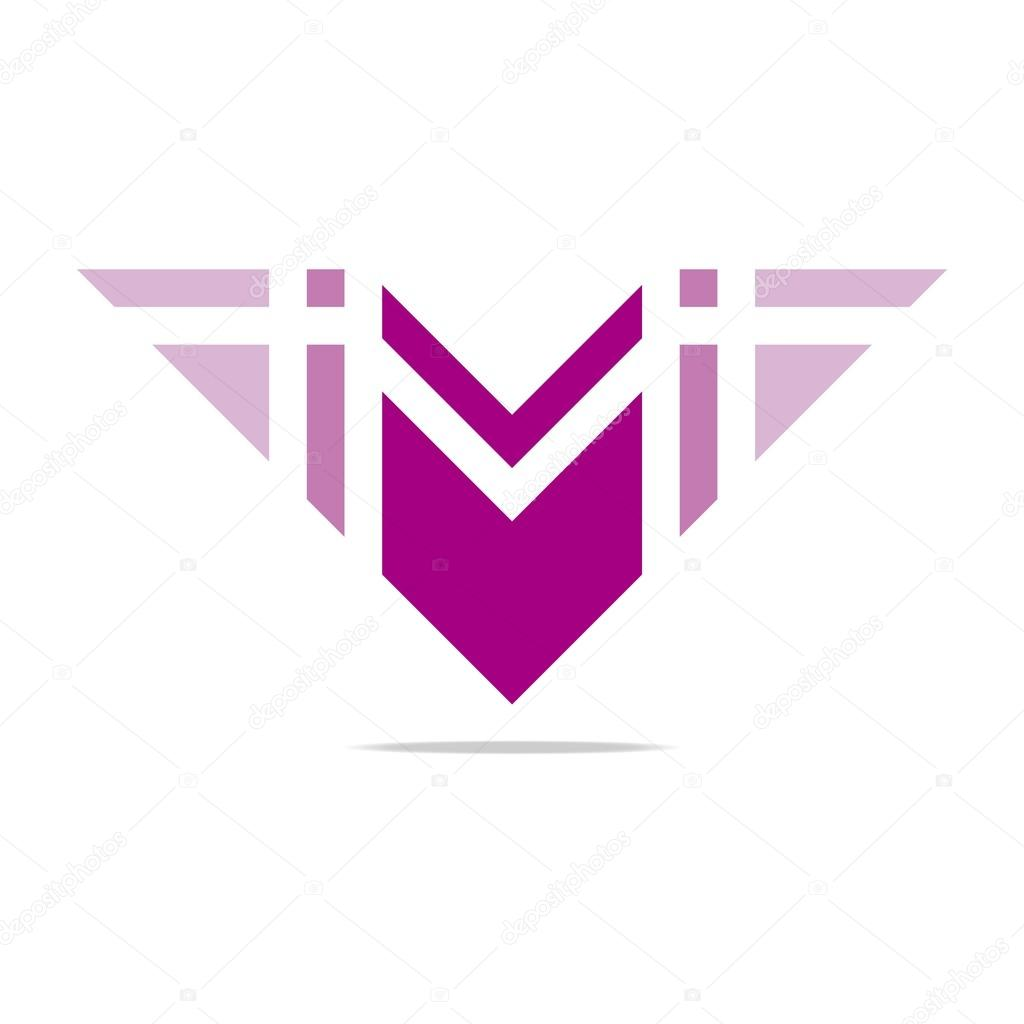 Logo letter M wings symbol design icons vector — Stock ...