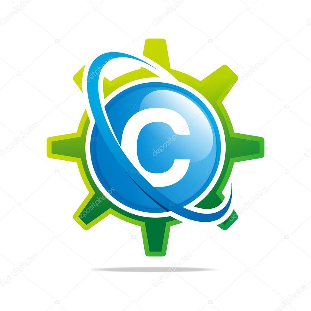 Logo circle globe gear letter c blue abstract vector symbol stock abstract business concept circle corporate creative dynamic element flying geography gear design motion round shape simplicity symbol biocorpaavc Images