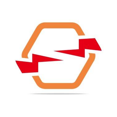 Logo electricity power icon design symbol abstract vector