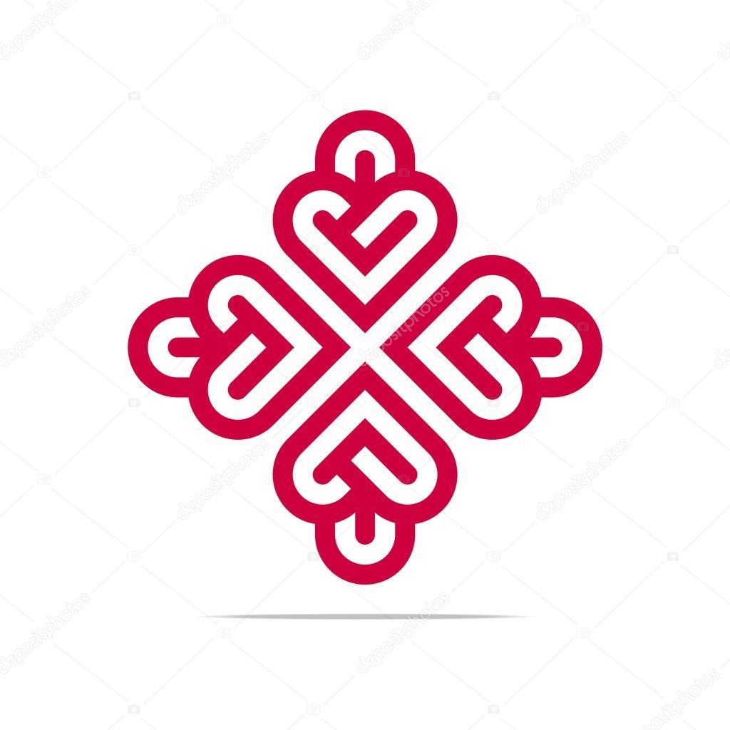 Abstract Logo Heart Love Design Vector Business