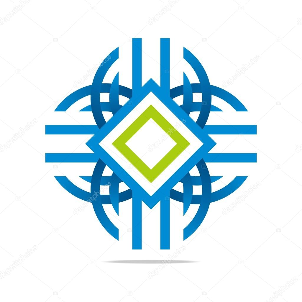 Logo Letter Mw Circle Symbol Design Icon Vector Stock Vector