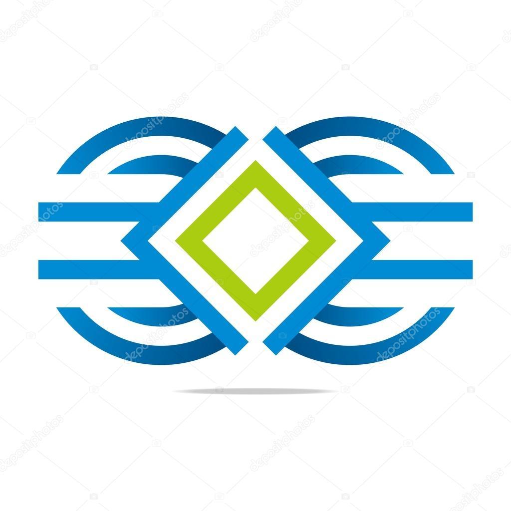 Logo Letter M Circle Symbol Design Icon Vector Stock Vector