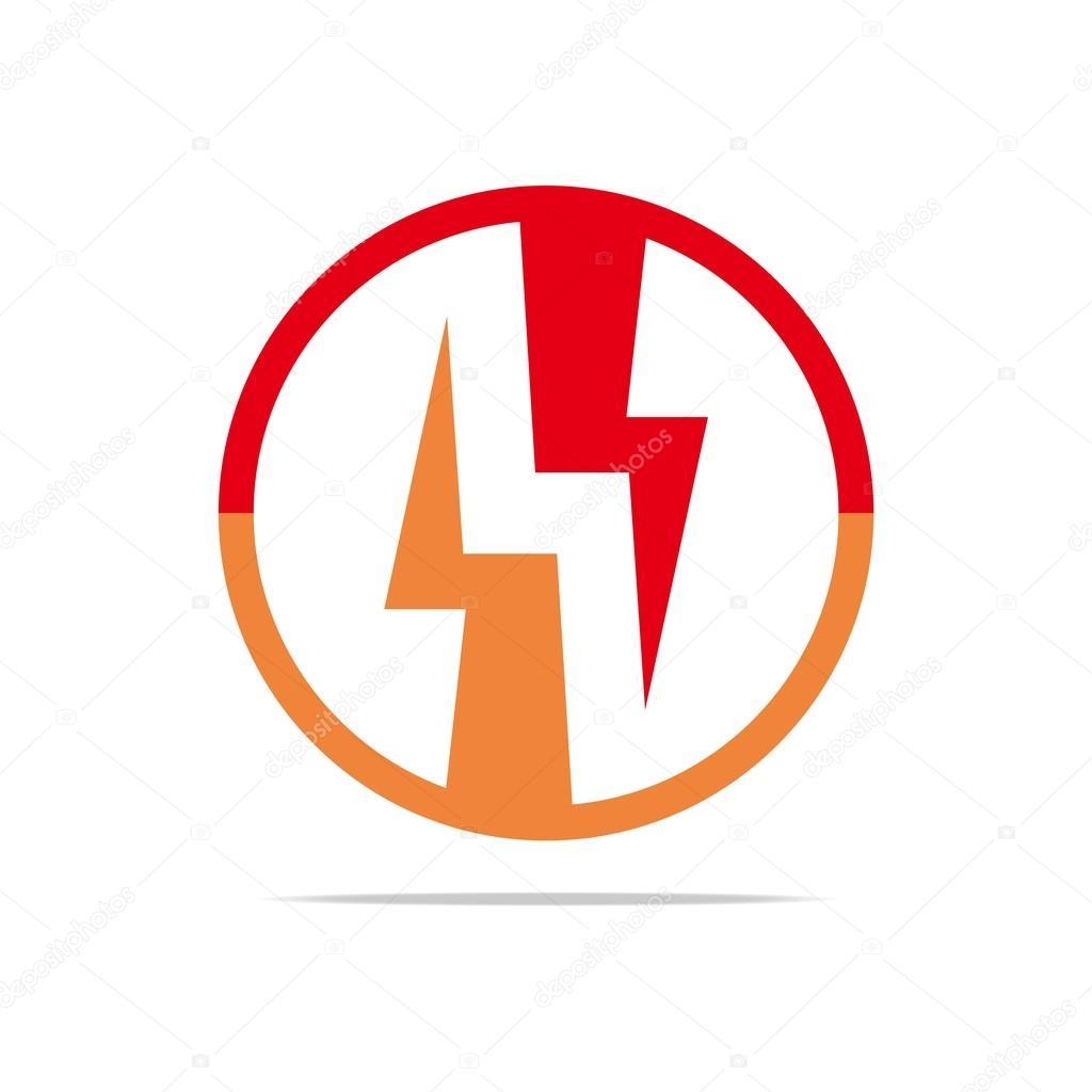 Logo Electricity Power Icon Design Symbol Abstract Vector Stock
