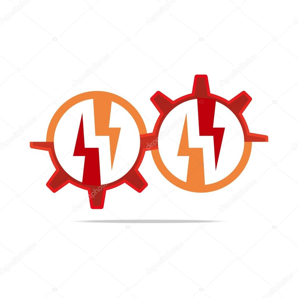 Logo design icon power electricity circle gear red symbol abstract power powerful set shiny sign speed symbol thunderbolt vector zeus electric current electricity electronic element emblem energy fast buycottarizona Images