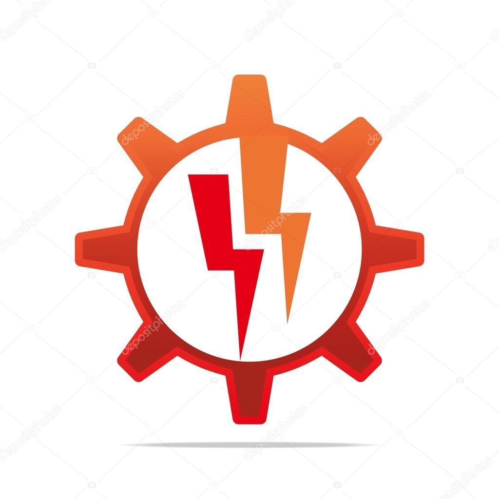 Logo-Design-Symbol Energie, Elektrizität, Kreis Gang Red Symbol ...