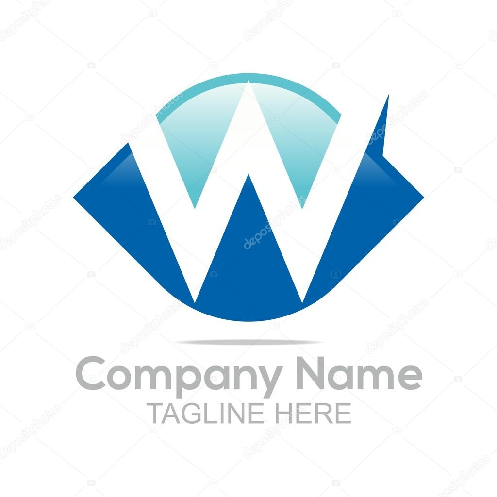 Logo design company name letter w shapes symbol icon abstarct abstract logo element elegant letter alphabet symbol design sign shape icon idea vector concept business template company name corporation buycottarizona