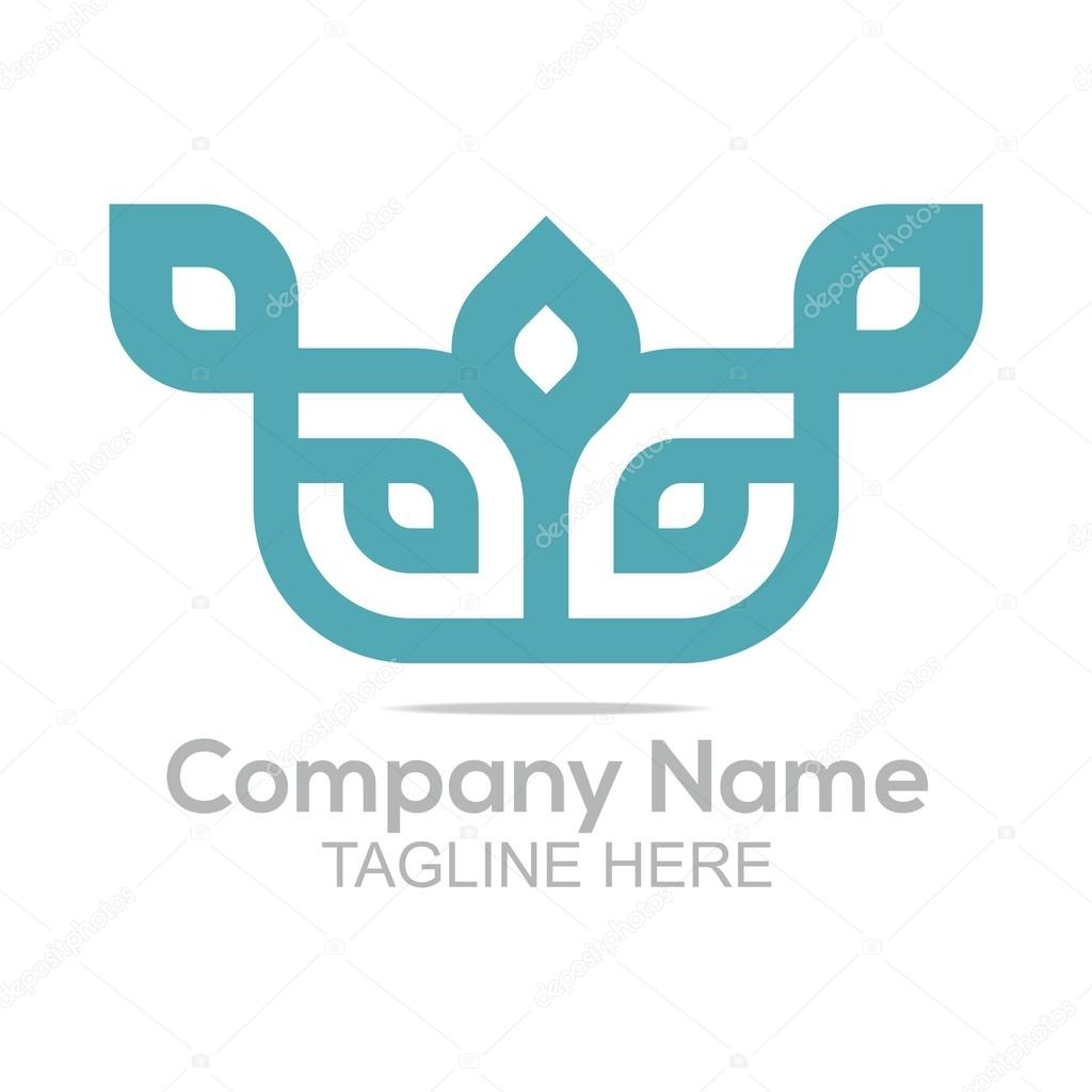 Logo design company name infinity shapes connecting symbol icon abstract lodo design sign shape element elegant vector infinity company name floral symbol creative idea icon template buycottarizona