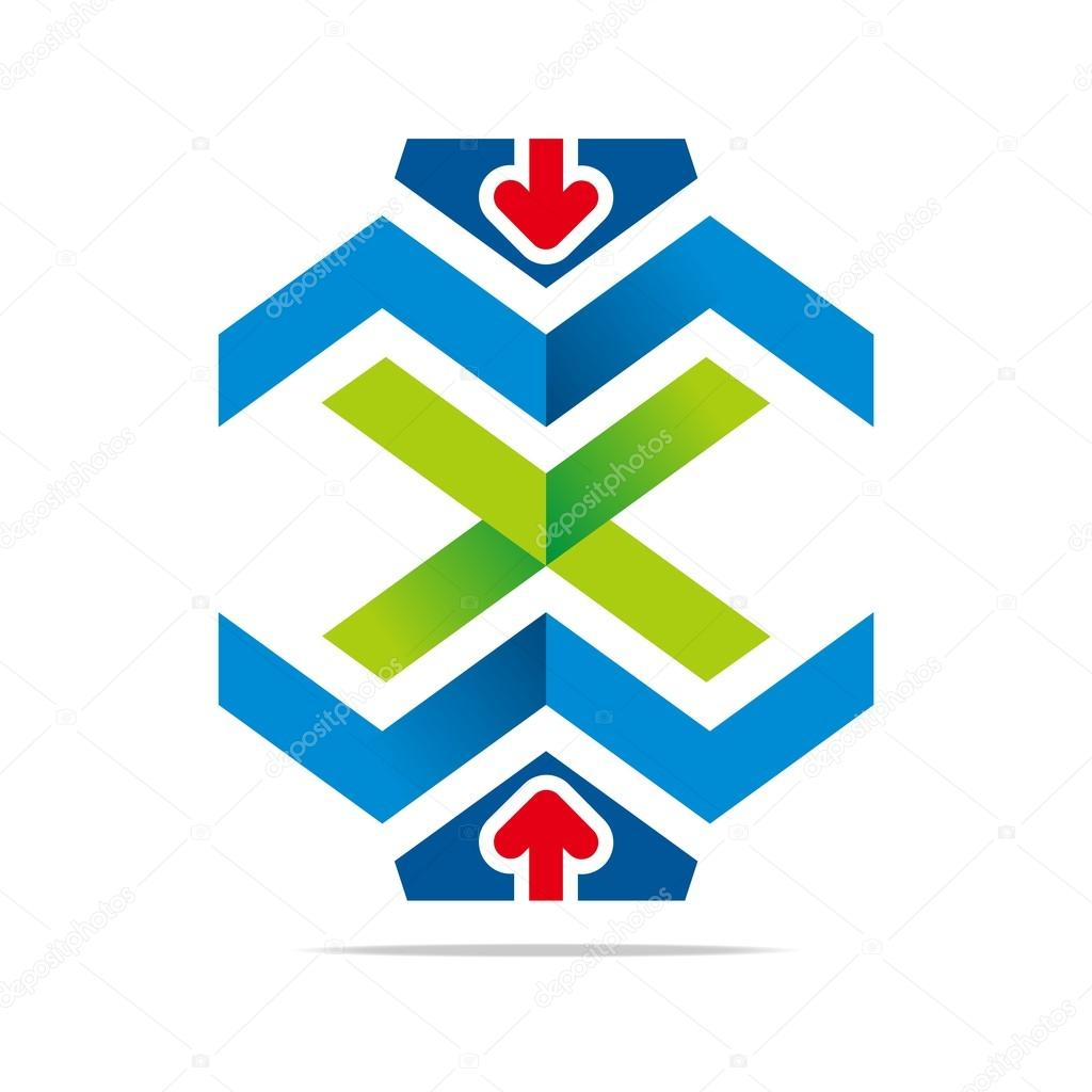 Logo design element arrow icon symbol abstract vector stock house icon land logo management map north off pointer position purple pentagon purpose sign abstract area arrow blue business real biocorpaavc