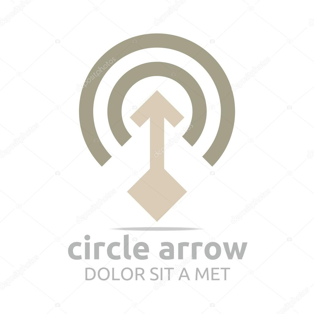 logo design letter c arrow brown icon symbol vector ストック