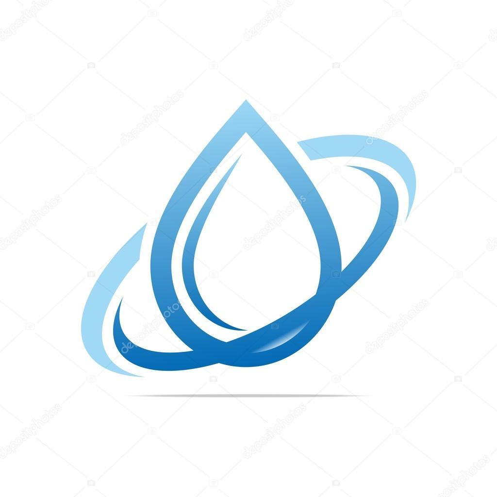 Logo Design Water Drop Ring Symbol Icon Abstract Vector