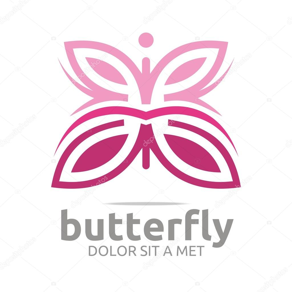 Logo butterfly leaf pink insect spring symbol vector stock logo butterfly leaf pink insect spring symbol vector stock vector biocorpaavc Image collections