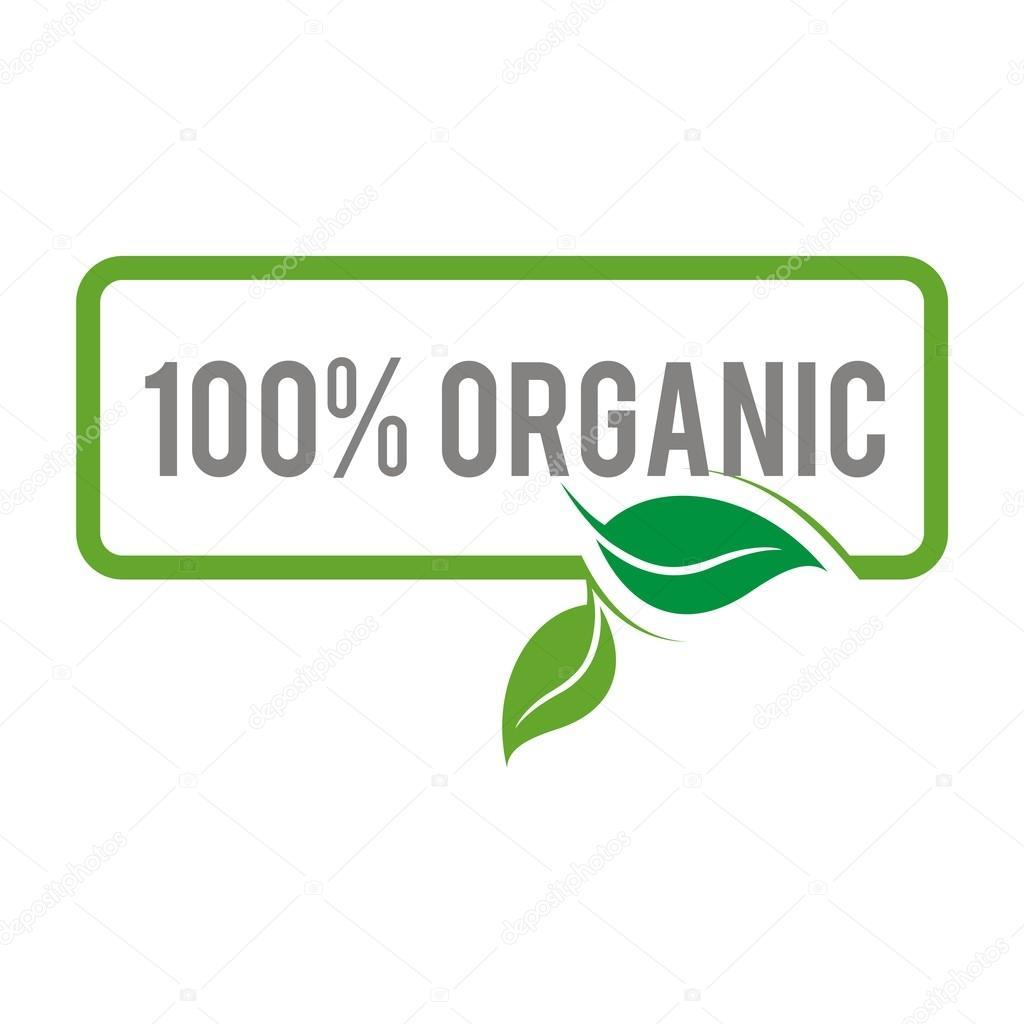 Logo natural product organic healthy garden design vector