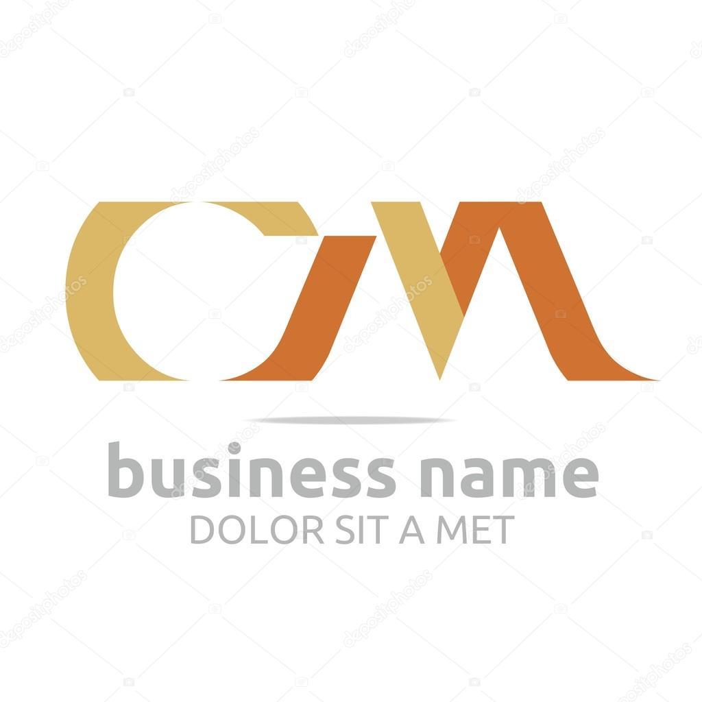 Logo letter C combination M lettemark design vector