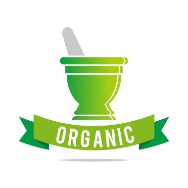 Logo pharmacy mashed drugs organic product icon vector