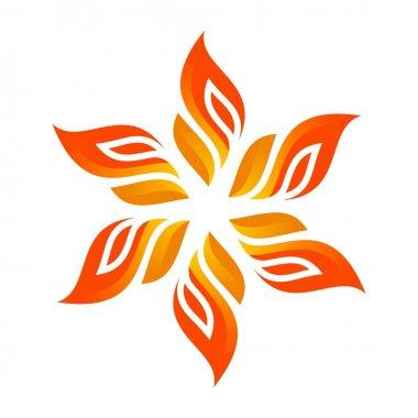 Logo flame fire design luxury logo design vector