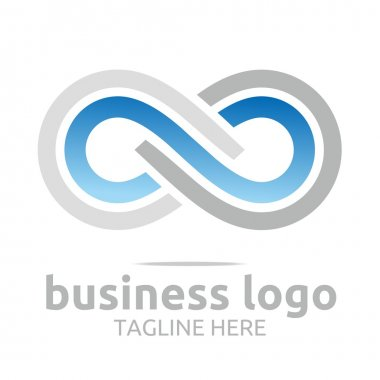 Infinity logo business company corporate letter s vector