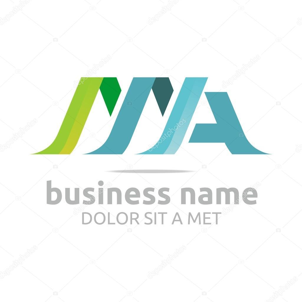 Logo letter M combination A lettemark design vector