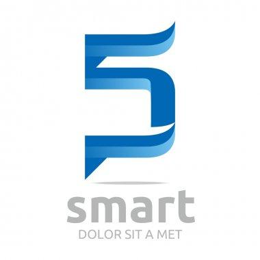 Logo letter s combination c lettemark design vector