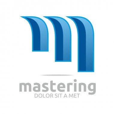 Logo letter m lettemark design vector