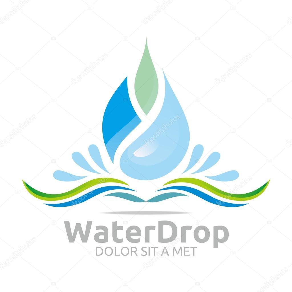 Logotipos De Marcas De Agua Purificada Vector De La Diseño Logo