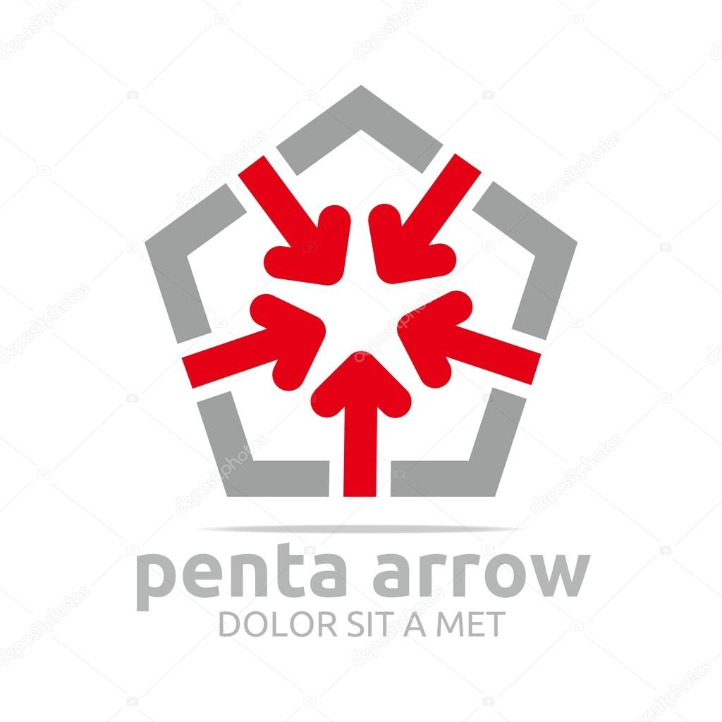 Logo penta arrow design icon symbol star vector stock vector house icon land logo management map north off pointer position purple pentagon purpose sign abstract area arrow blue business real biocorpaavc