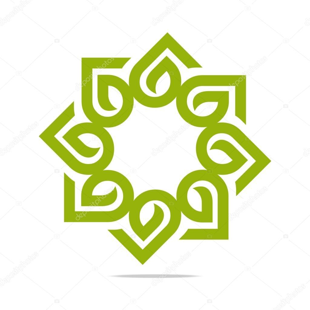 Logo Go Green Leaf Greening Symbol Icon Vector Stock Vector