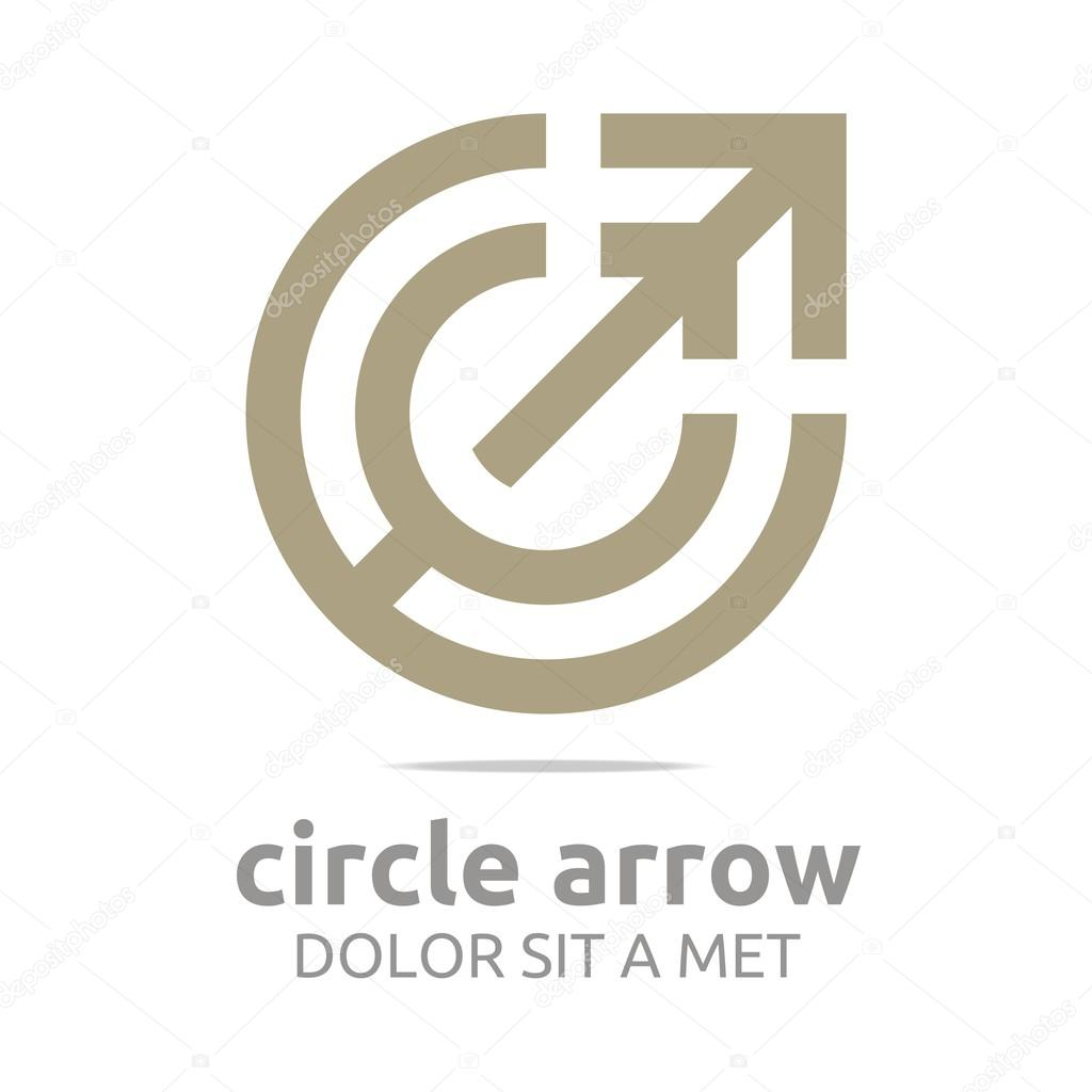 Logo Design Letter C Arrow Brown Icon Symbol Abstract