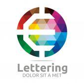 Logo abeceda abstraktní Rainbow dopis počáteční E Symbol ikonu Design vektor