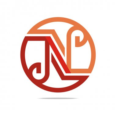 Logo Abstract Letter N Combination Design Element Symbol Icon