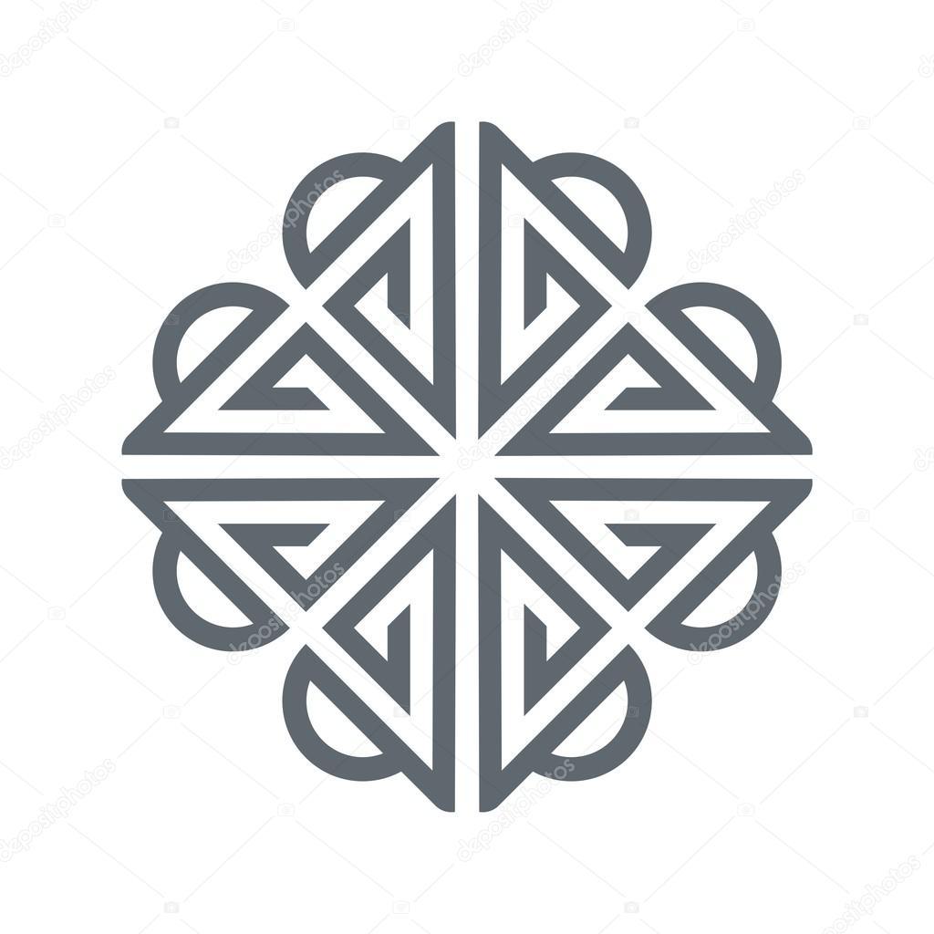 Abstract Design Logo Circle Square Connect Icon Vector Stock
