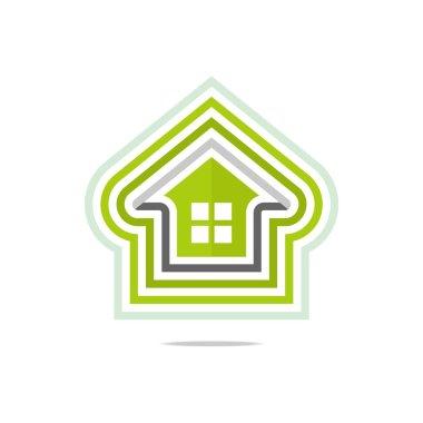 Logo private buildings design Homekey alarm style