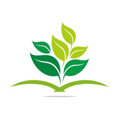Logo leaves mashed drugs organic product icon