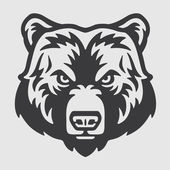 Photo Bear Head Logo Mascot Emblem